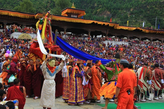 The Dance of the Lord of the Death at Thimphu Festival