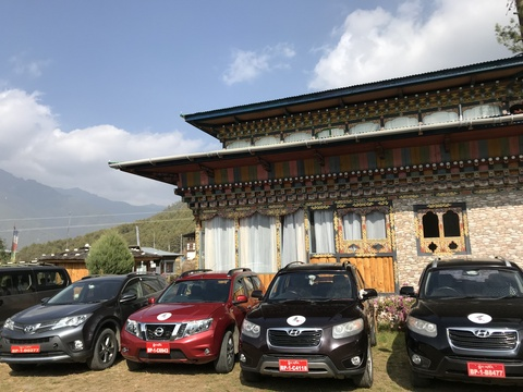 Cars, SUVs and Coaches of Bhutan Swallowtail