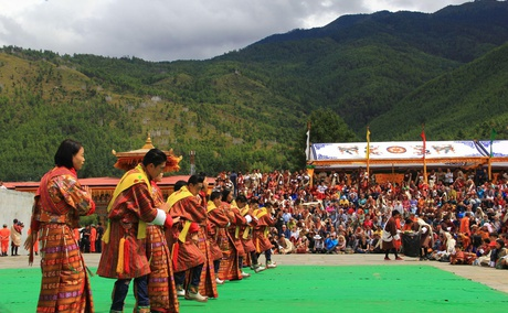 The National Dance during Thimphu Festival